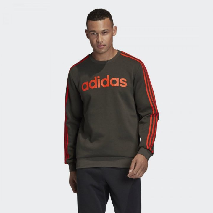 Adidas Essentials szürke férfi pulóver