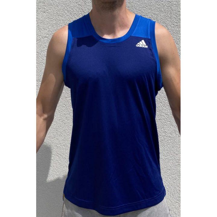 Adidas kék férfi trikó