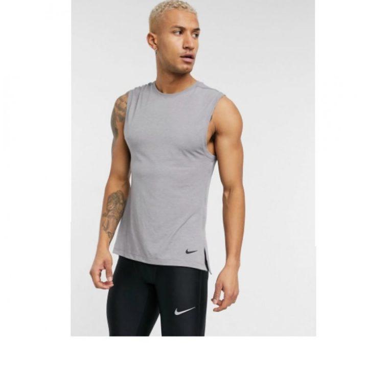 Nike Yoga DRY szürke férfi trikó