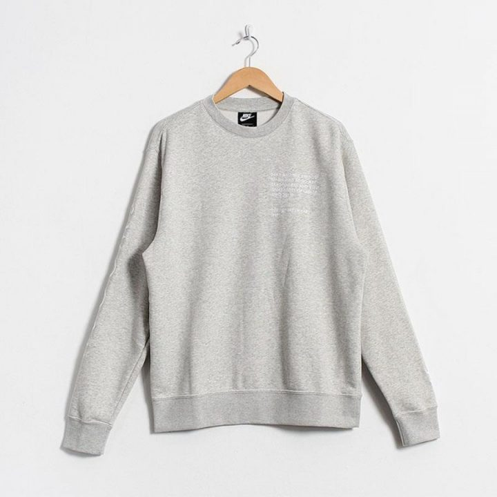 Nike Swoosh szürke férfi pulóver