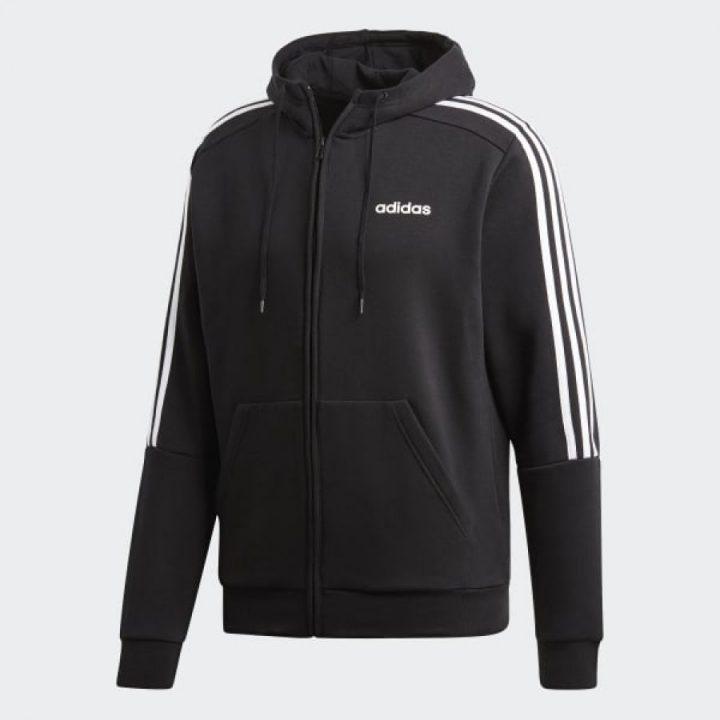 Adidas 3-Stripes fekete férfi pulóver