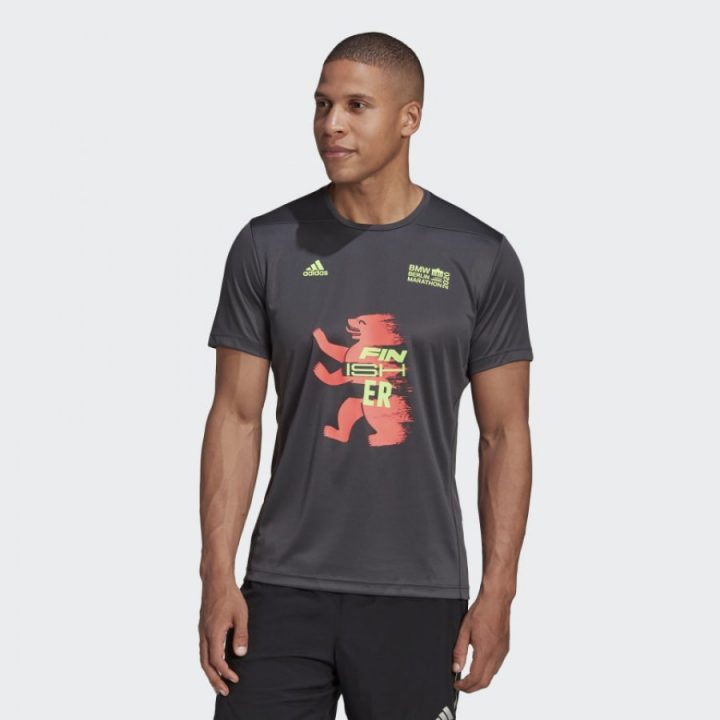Adidas Berlin Marathon szürke férfi póló