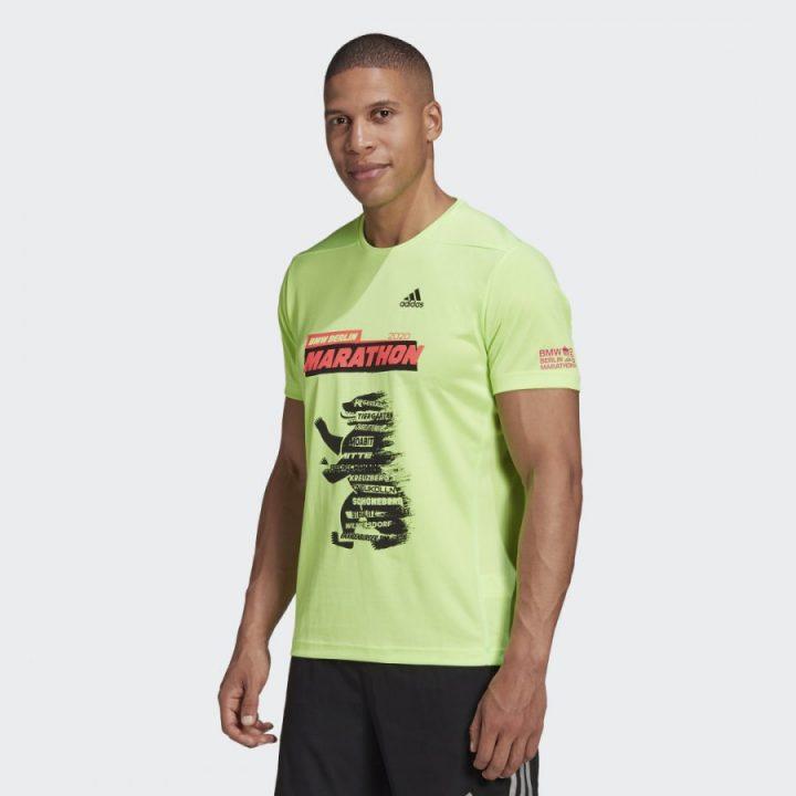 Adidas Berlin Marathon zöld férfi póló
