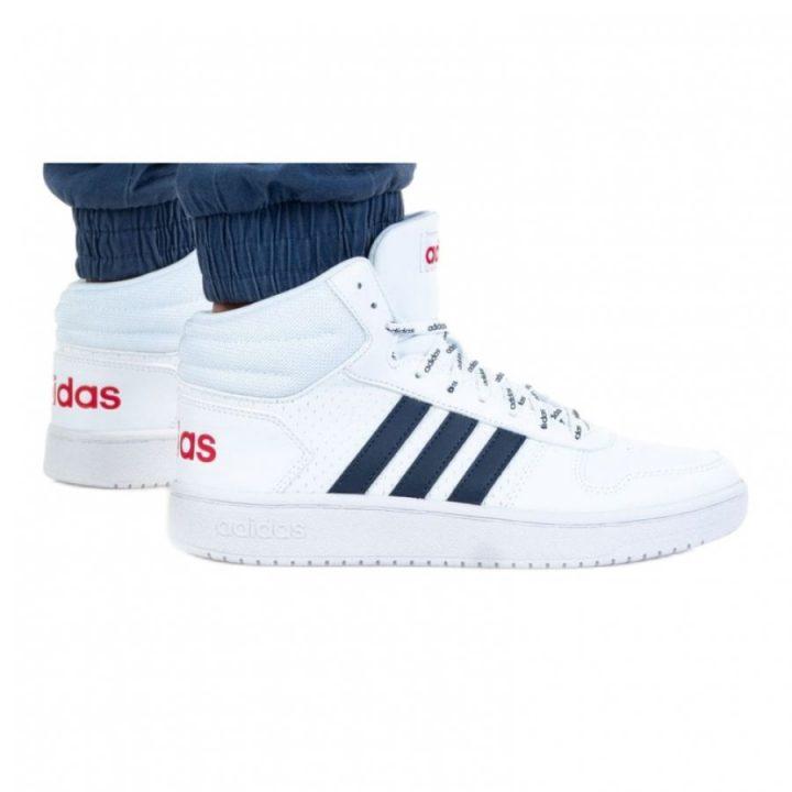 Adidas Hoops 2.0 MID fehér férfi utcai cipő
