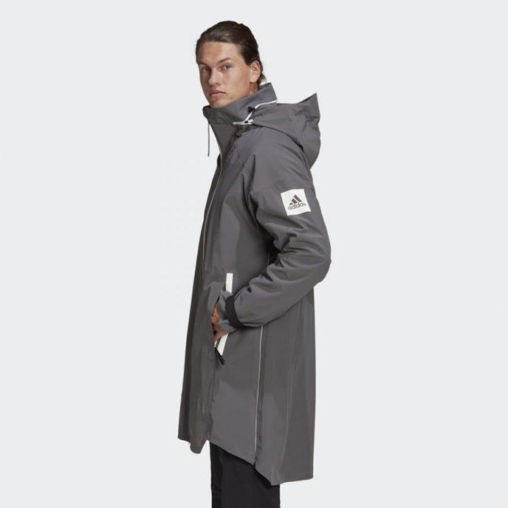 Adidas Myshelter Rain szürke férfi kabát