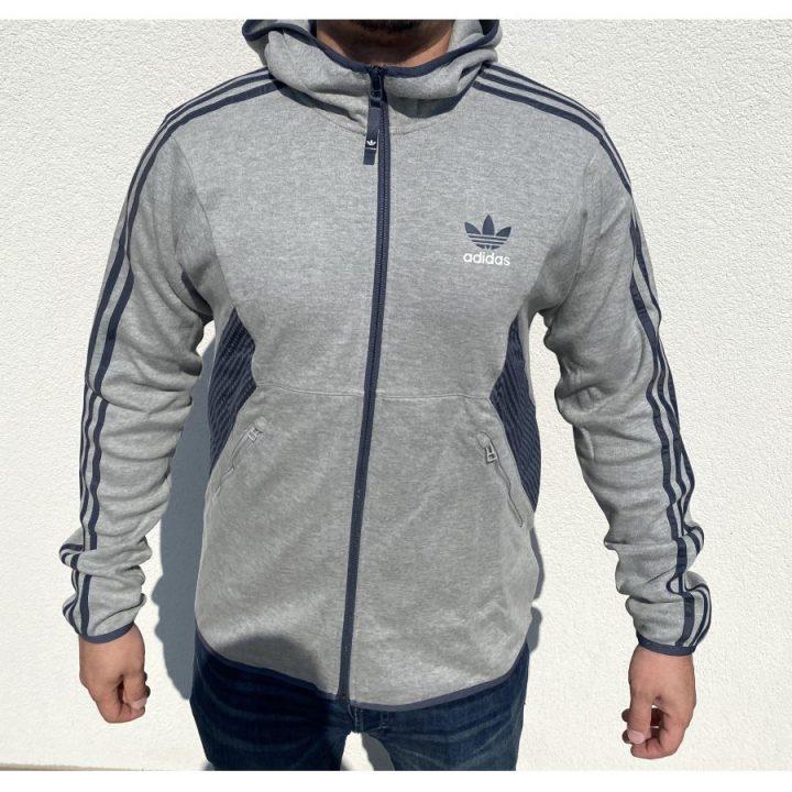 Adidas Originals szürke férfi pulóver