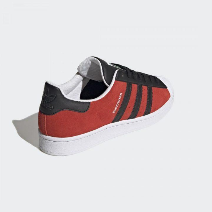 Adidas Superstar piros férfi utcai cipő
