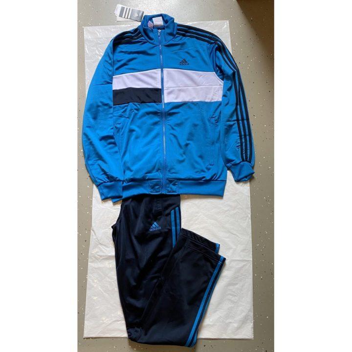 Adidas Trainsuit kn oh kék fiú melegítő együttes