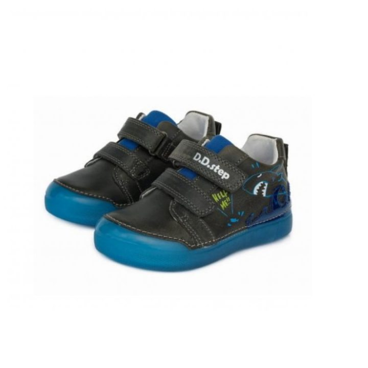 D.D Step bőrcipő fekete utcai cipő