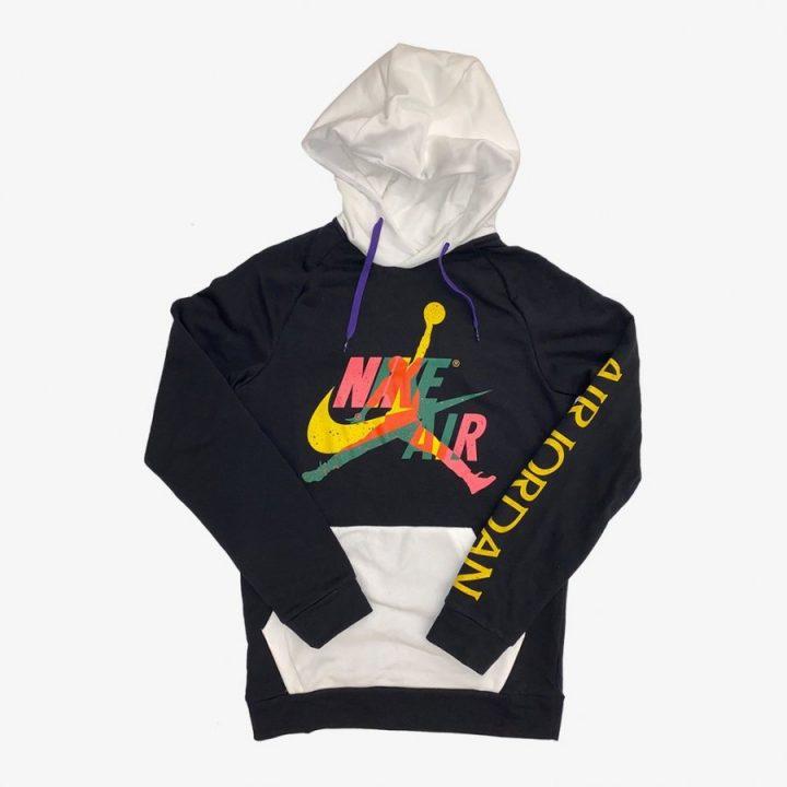 Jordan Jumpman Classic fekete férfi pulóver