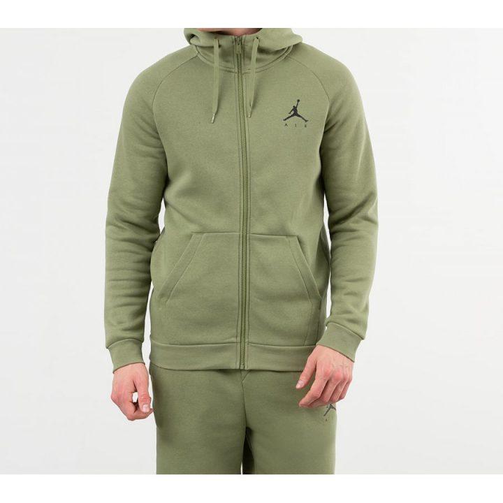 Jordan Jumpman Fleece Full Zip zöld férfi pulóver