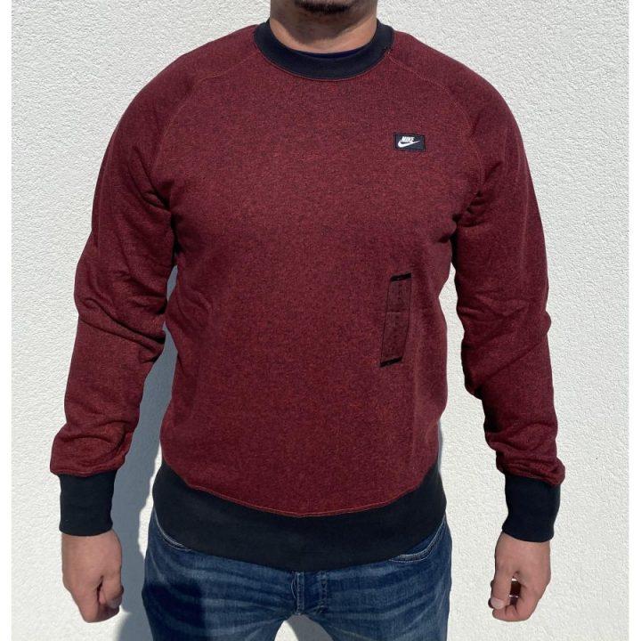 Nike bordó férfi pulóver
