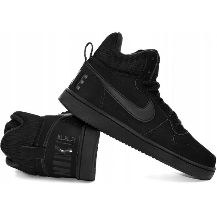Nike Court Borough MID fekete utcai cipő