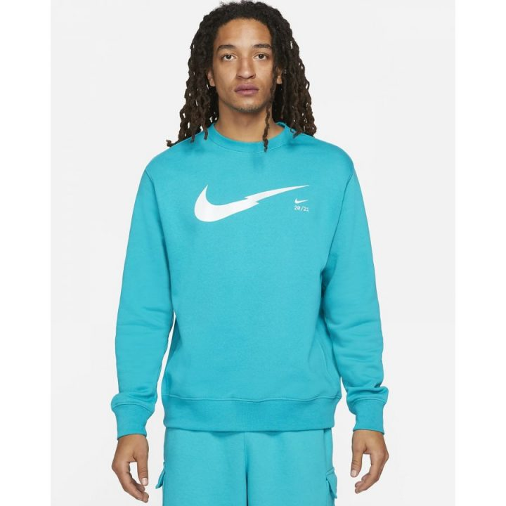 Nike NSW kék férfi pulóver