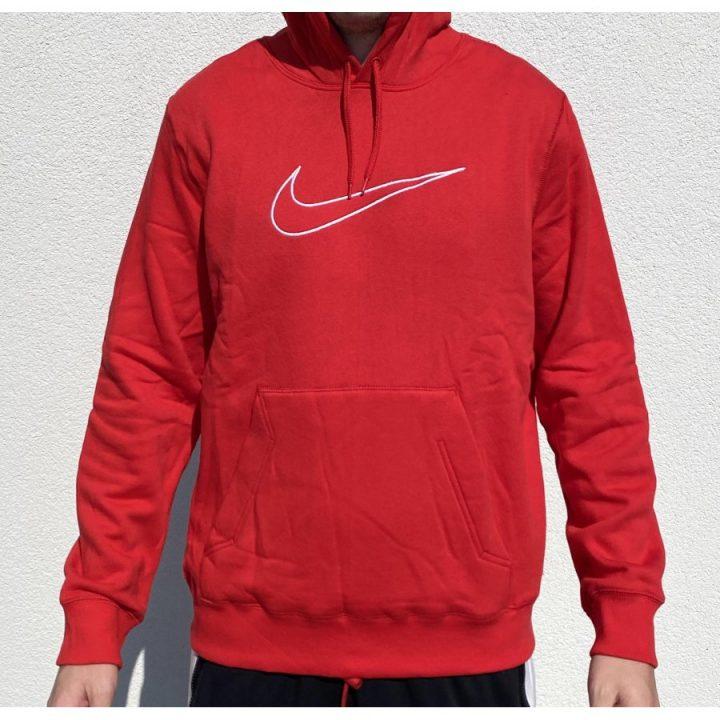 Nike piros férfi pulóver