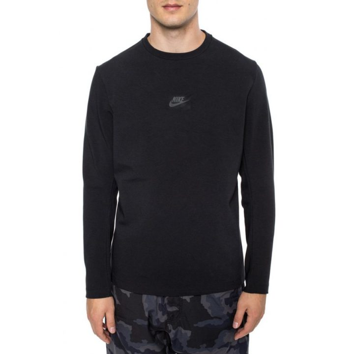 Nike Sportswear Tech fekete férfi pulóver