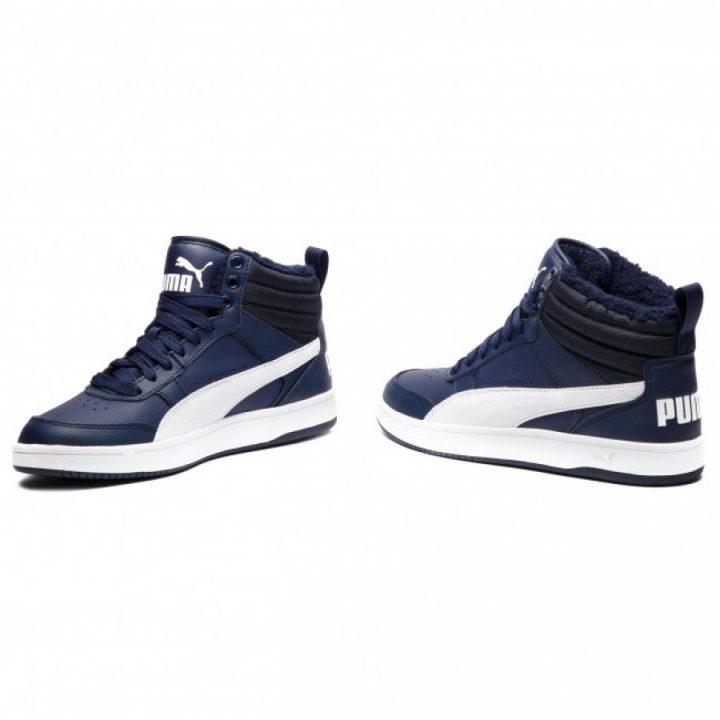 Puma Rebound Street V2 Fur kék férfi bakancs