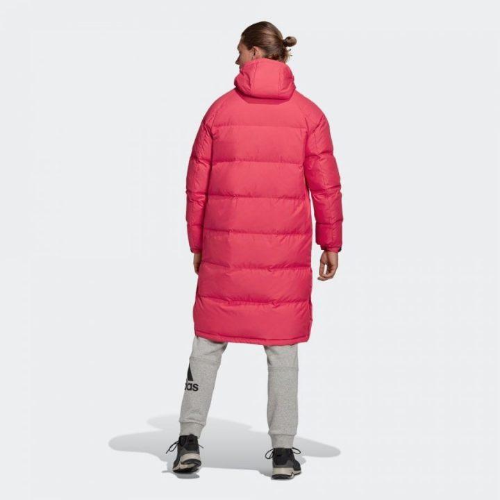 Adidas Long Down piros férfi kabát