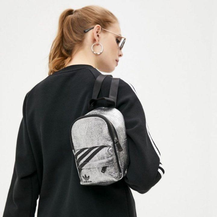 Adidas Mini Backpack ezüst női hátitáska